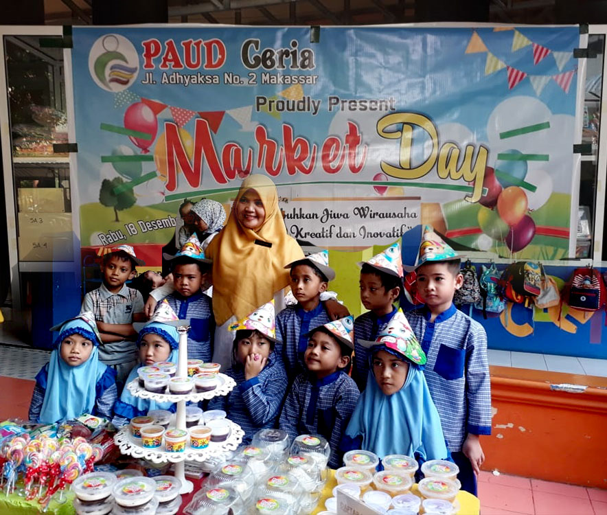 Cheerful PAUD Holds Market Day to Create an Entrepreneurial Soul