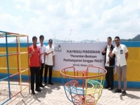 PLN Build Playing Ground of PAUD in Gowa