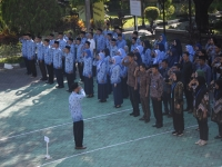 Ceremony of Pancasila Supremacy Day Without Speech